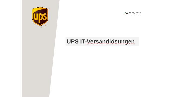 Ups It Versandlösungen By Rex Apu On Prezi