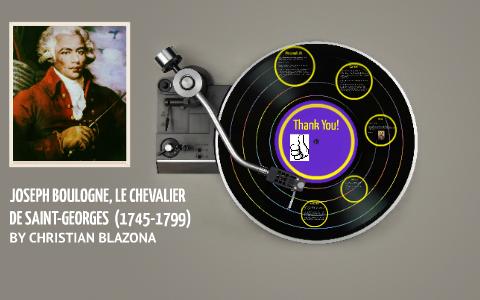 Joseph Boulogne Le Chevalier De Saint Georges By Christian Blazona