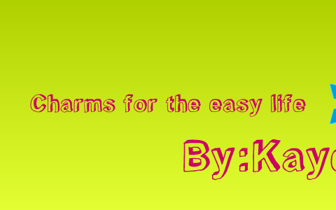 charms for the easy life gibbons kaye
