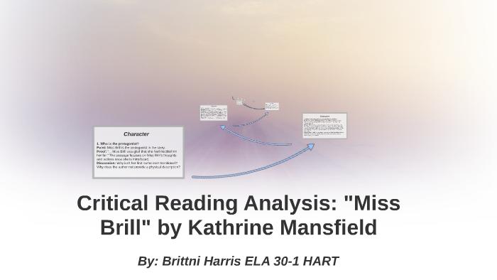 miss brill critical analysis