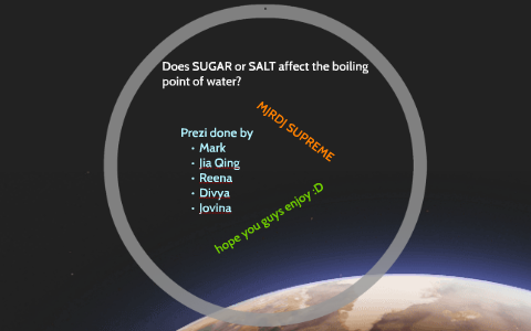 how does salt affect boiling water