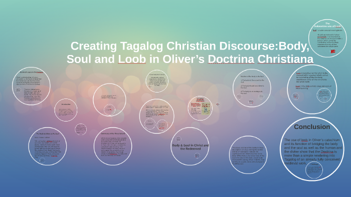 Creating Tagalog Christian Discourse:Body, Soul and Loob in