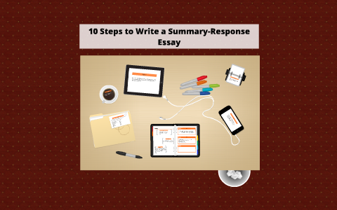 how to write a summary and response essay