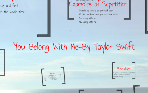 You Belong With Me By Taylor Swift By Ben Carlick