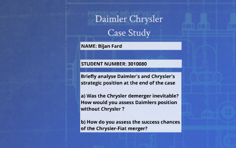 chrysler and fiat merger case study