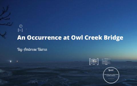 an occurrence at owl creek bridge tone