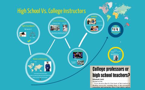 difference between high school teachers college professors