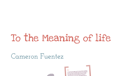 Jeremy Fink and the Meaning of Life by Cameron Fuentez on Prezi