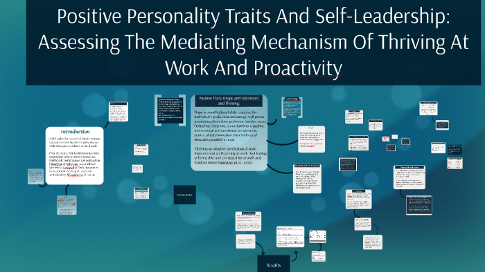 Positive Personality Traits And Self-Leadership: Assessing T