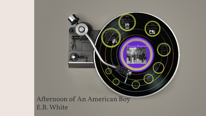essays of eb white afternoon of an american boy