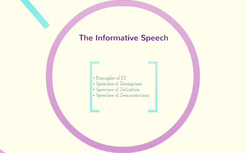 informative speech definition