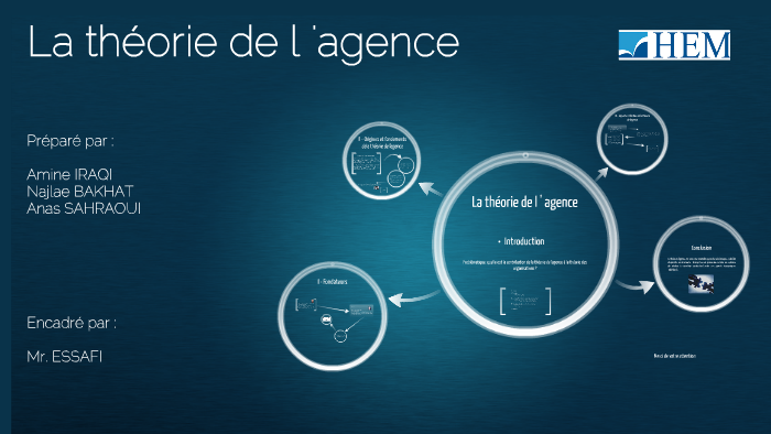 la th u00e9orie de l u0026 39 agence by amine iraqi on prezi
