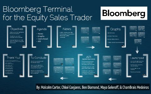 Bloomberg Terminal for the Equity Sales Trader by Maya
