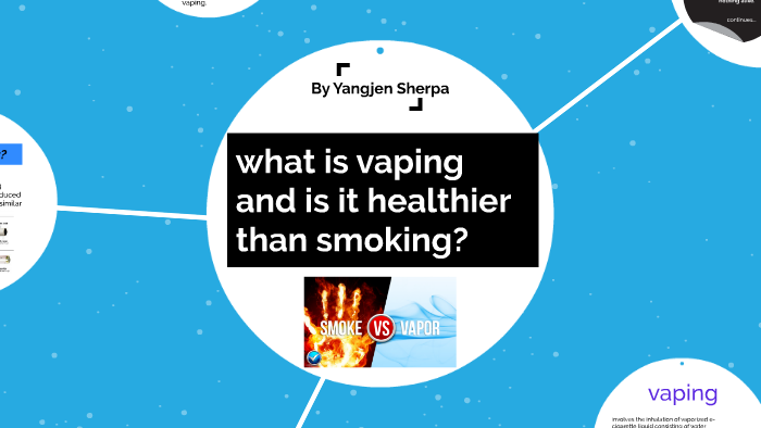 what is vaping and is it healthier than smoking? by yazza