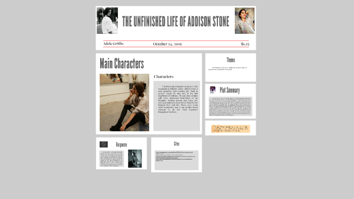 The Unfinished Life Of Addison Stone By Francesca La Civita On Prezi