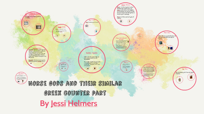Norse gods and their similar greek counter part by Jessica Helmers
