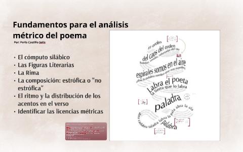 Fundamentos Para El Análisis Métrico Del Poema By Perla