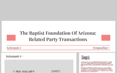 The Baptist Foundation Of Arizona: Related Party Transaction by on ...