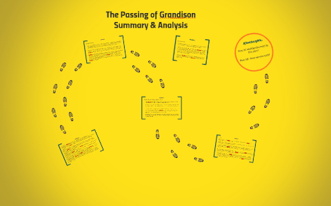 The passing of grandison character analysis