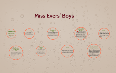 miss evers boys sparknotes