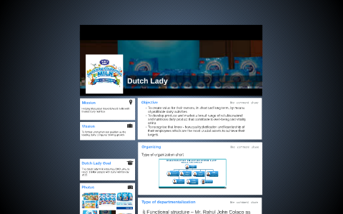 Dutch lady organisation chart