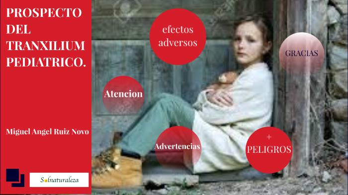 Prospecto Del Tranxilium Pediatrico By Vicente Martinez