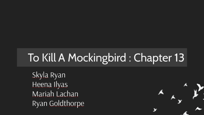 what is chapter 13 about in to kill a mockingbird