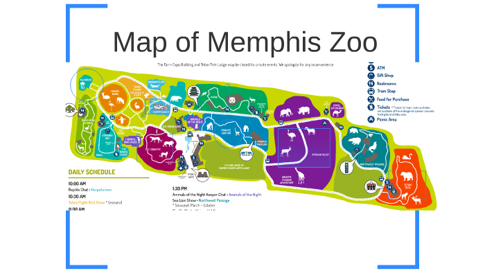Memphis Zoo Map Map of Memphis Zoo by Chanelle Dunn on Prezi