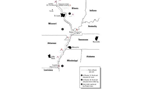 Huck Finn Map Project by Daniel Nguyen on Prezi