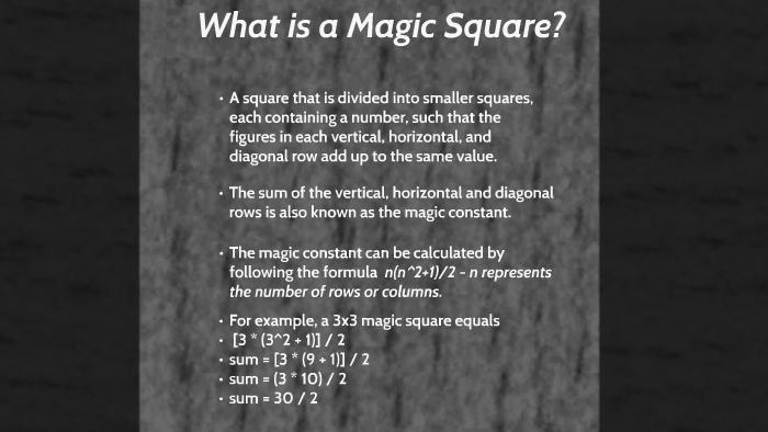 Magic Squares by Richard Ramos on Prezi