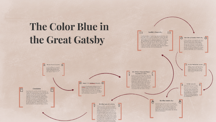 The Color Blue In The Great Gatsby By Maizy Hills On Prezi