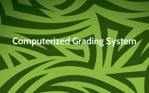 grading system thesis documentation pdf