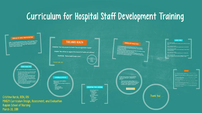 Curriculum Presentation for Hospital Staff Development by