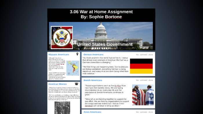 3.06 War at Home Assignment by Sophie Bortone on Prezi