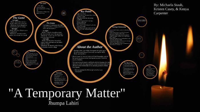 a temporary matter jhumpa lahiri
