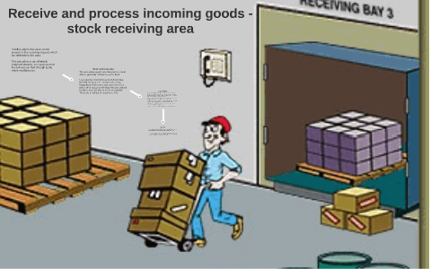 Receive and process incoming goods - stock receiving area by