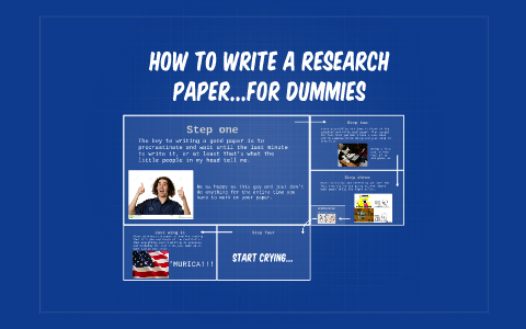 How to write a research paper for dummies