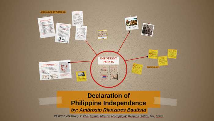 Declaration Of Philippine Independence By Wonhee Cho