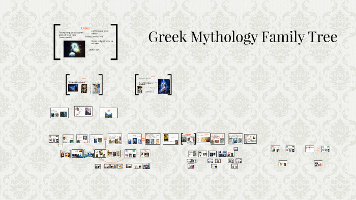 Greek Mythology Family Tree By Gabrielle Hancock On Prezi