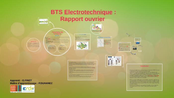 Bts Electrotechnique Rapport Ouvrier By Gregory Finet On Prezi