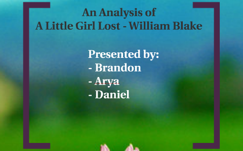 william blake a little girl lost