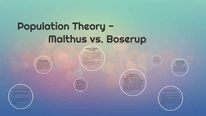 malthus and boserup theory