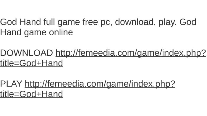 Game god hand pc