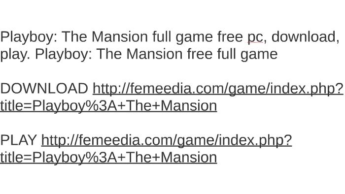 playboy game free download