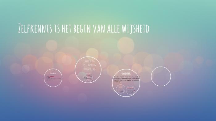 Zelfkennis Is Het Begin Van Alle Wijsheid By Alissa Verhoeff