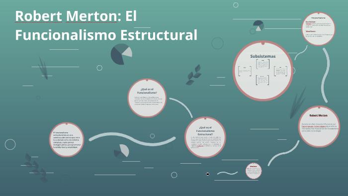 Robert Merton El Funcionalismo Estructural By Mario Astorga