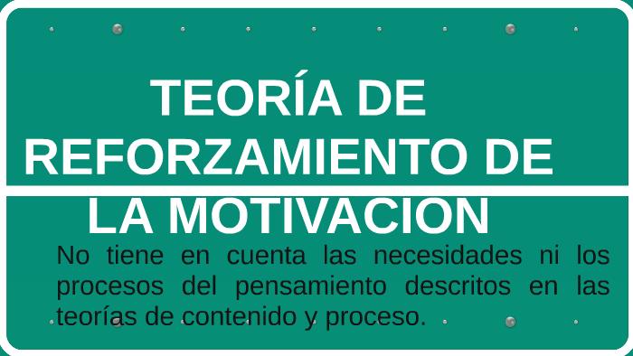 Teoría De Reforzamiento De La Motivación By Indra Ortiz On Prezi