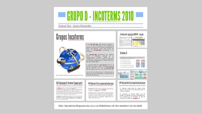 INCOTERMS 2010 GRUPO D by Yeinson Diaz