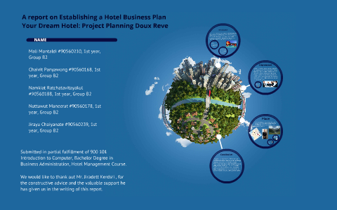 A report on Establishing a Hotel Business Plan by Bank