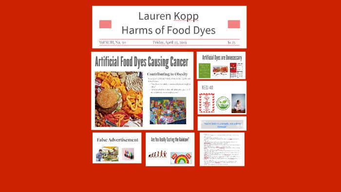 harms of food dyes by Lauren Kopp on Prezi